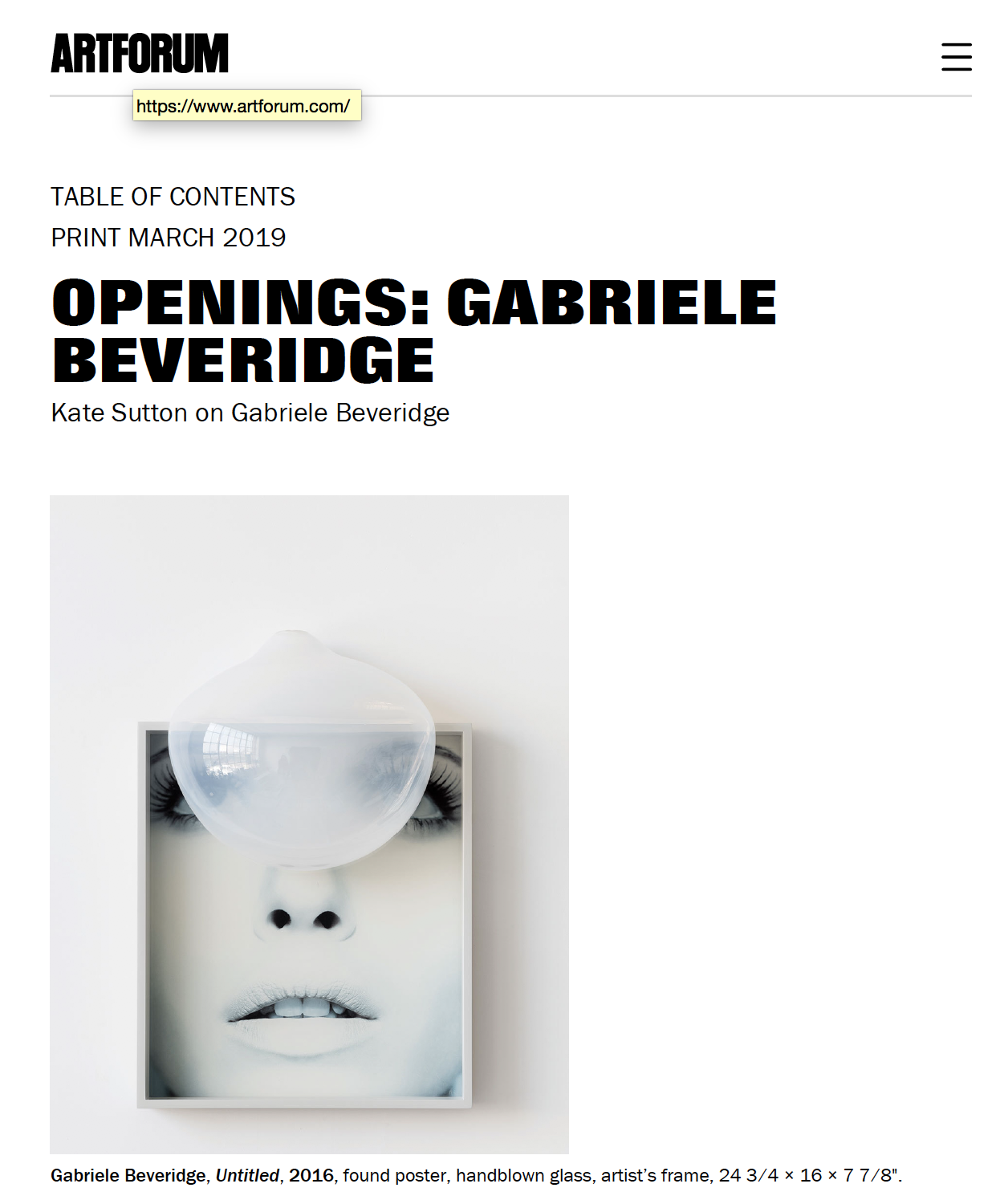 OPENINGS: GABRIELE BEVERIDGE