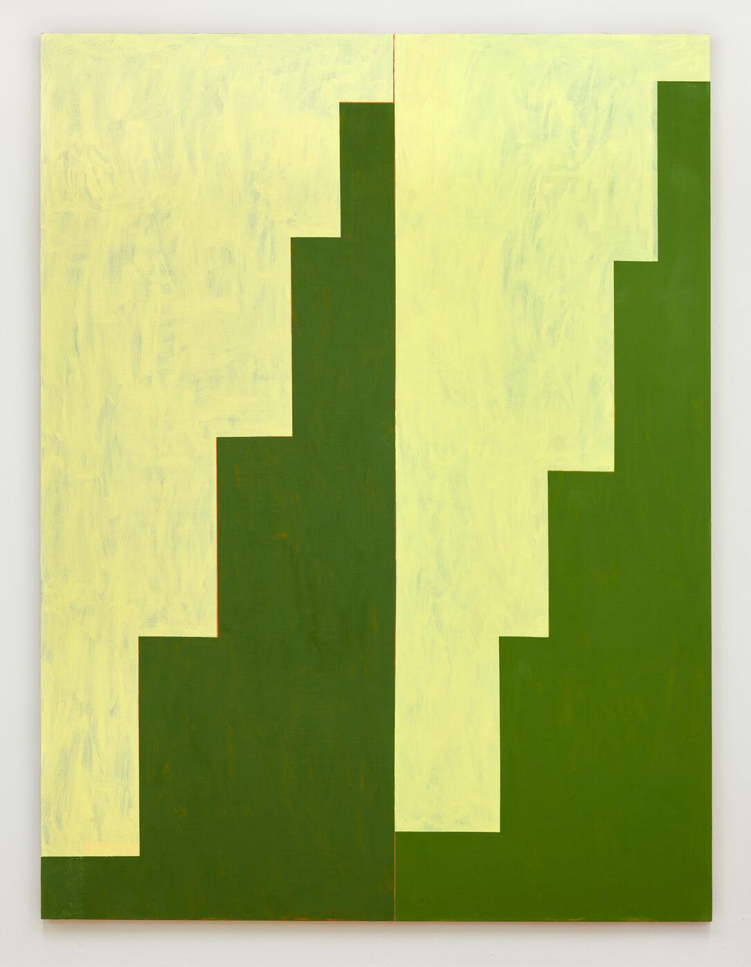 Double Minaret (Faded Lemon : Green)