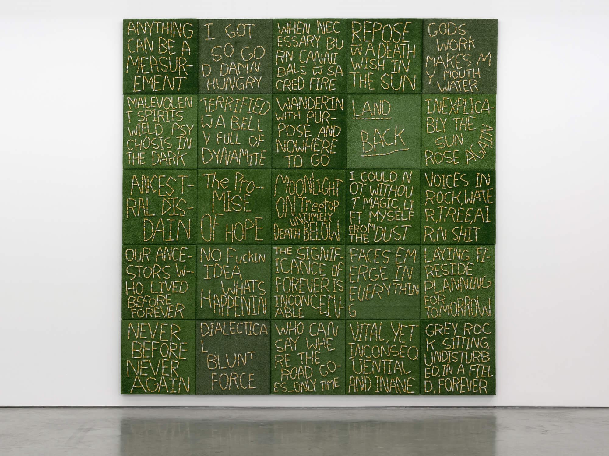 Installation of 25 individual artworks